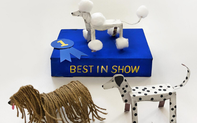 Best in Show cardboard dogs