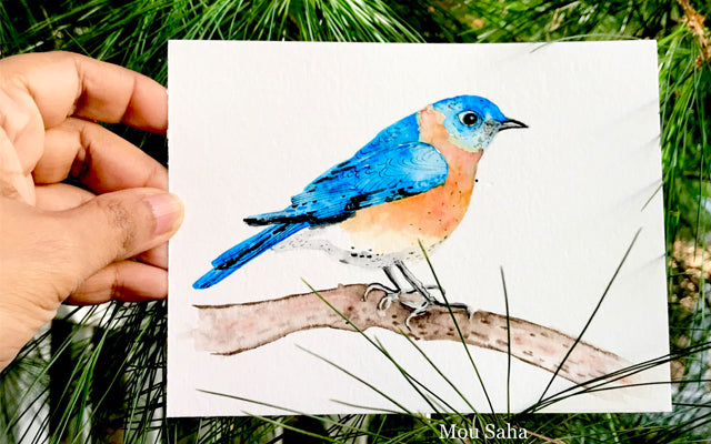 Watercolor Bird Art