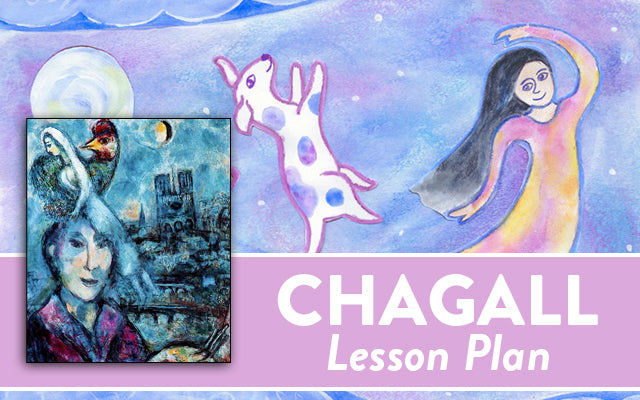 Mixed media Chagall lesson plan for kids