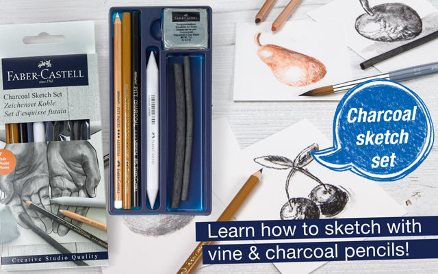 Charcoal Sketch Set. Learn how to sketch with vine & charcoal pencils!