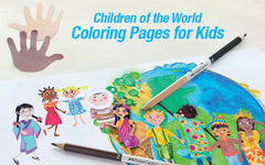 Children of the World Coloring Pages for Kids
