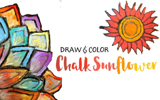Draw & Color Chalk Sunflower