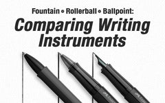 Fountain Pens vs. Rollerball Pens vs. Ballpoint Pens: Comparing Writing Instruments