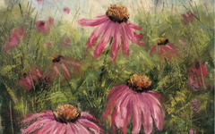 Coneflower Landscape Soft Pastel Tutorial