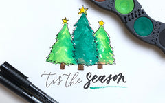 DIY Christmas Card with Connector Paints & Pitt Artist Pens