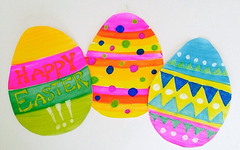 Easter Egg Crayon Resist Craft for Kids