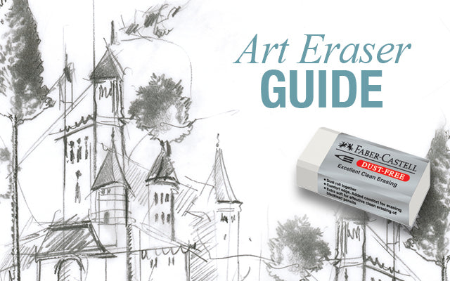 Art Eraser Guide with dust-free eraser