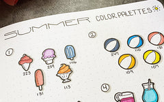 Bullet Journal Summer Color Palettes