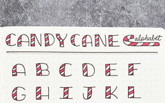 Bullet Journaling Candy Cane Alphabet