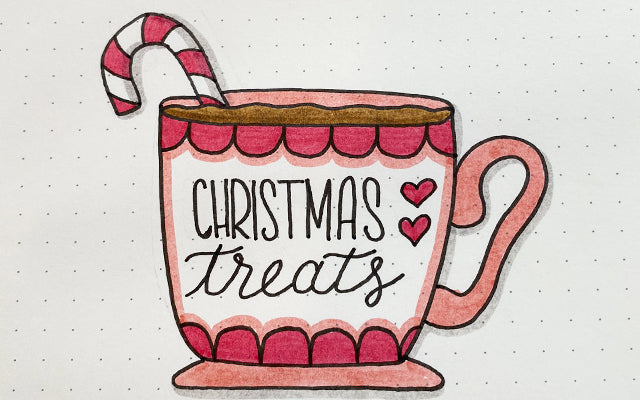 Bullet Journaling Christmas Treats Doodle