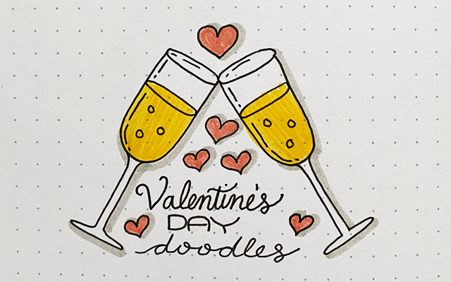 Bullet Journal Doodles: Valentine's Day