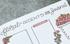Bullet Journal Tutorial: Floral Accents