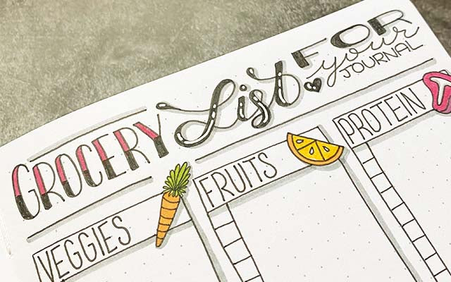 Bullet Journal Grocery List