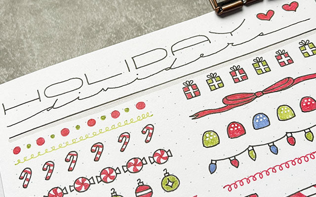 Bullet Journal with holiday dividers