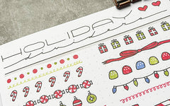 Bullet Journal Holiday Dividers Tutorial
