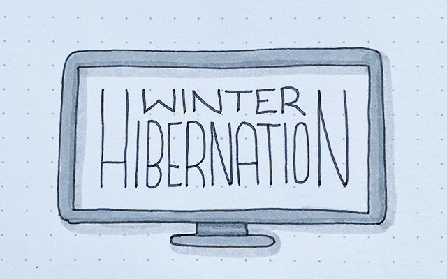 Winter Hibernation Bullet Journal Doodle