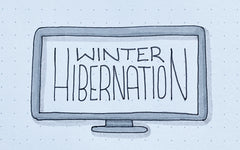 Bullet Journal Doodles: Winter Hibernation