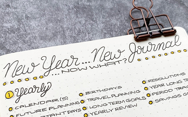 Bullet Journal: New Year New Journal