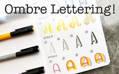 Bullet Journal Lettering Ombre Tutorial