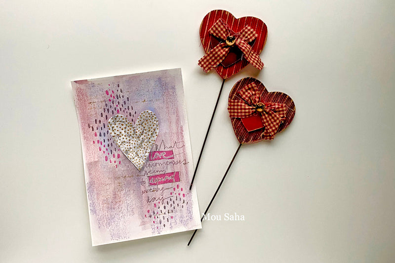 Valentine's Day Card with Mixed Media