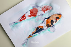 Koi Fish Watercolor Tutorial
