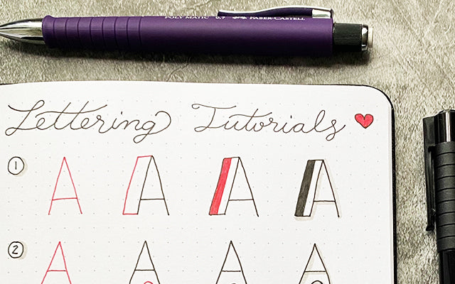 Bullet Journal Lettering Tutorial