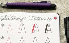 Bullet Journal Lettering Tutorials II