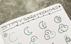 Bullet Journal Doodle Tutorial: Stay Wild Moon Child!