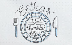 Bullet Journaling Doodles: Thanksgiving Extras!
