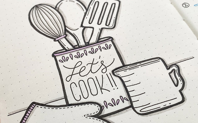 Let's Cook Bullet Journal Doodles