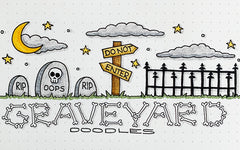How to Draw: Halloween Graveyard Bullet Journal Doodles