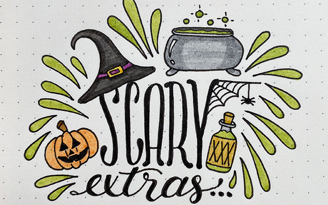 Bullet Journal Doodles: Halloween Scary Extras