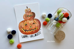Halloween Jack-O-Lantern Art Tutorial