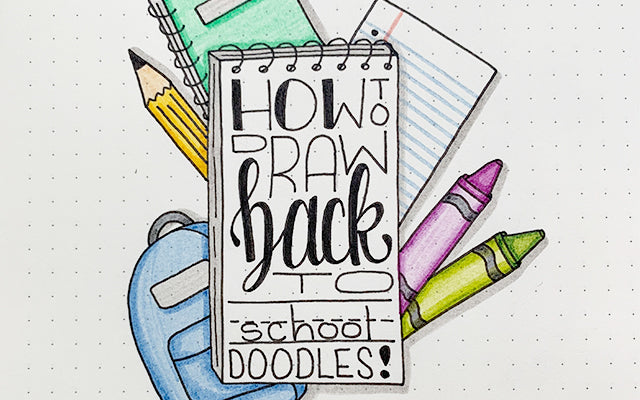 Bullet Journal Doodles: Back to School