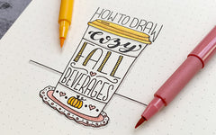 How to Draw: Cozy Fall Beverage Doodles
