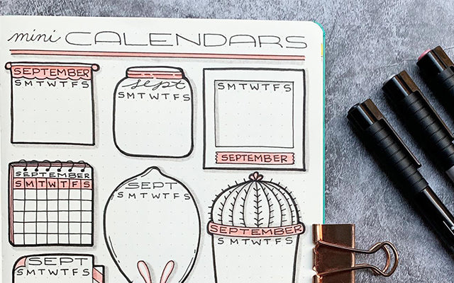Calendar Bullet Journal Doodles