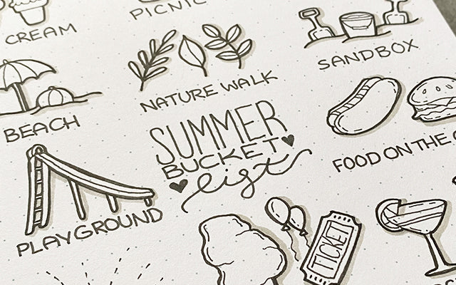 Bullet Journal Summer Bucket List