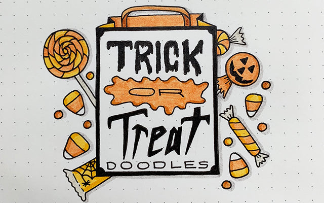 Trick or Treat Doodle with Candy