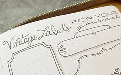 Bullet Journal Vintage Labels Tutorial