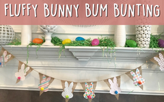 Fluffy Easter Bunny Bum Bunting - An Easter Craft for Kids
