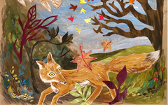 A Foxes Walk in the Woods Gelatos Art Lesson Plan