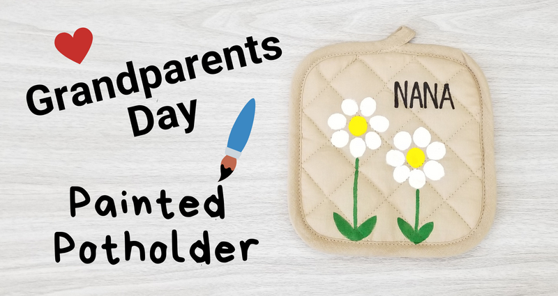 Grandparents Day Painted Pot Holder