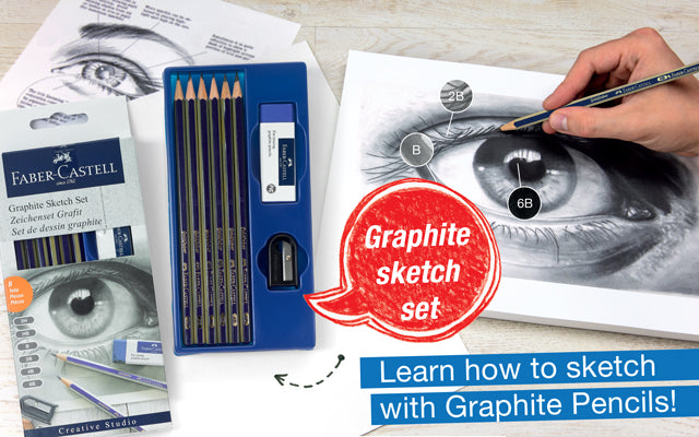 Graphite Sketch Set. Learn how to sketch with Graphite Pencils!