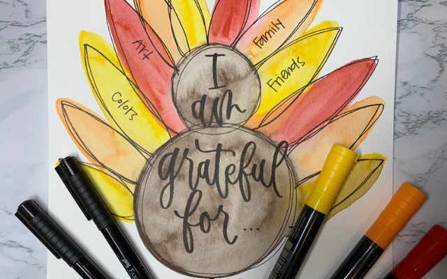 Grateful Turkey Thanksgiving Craft