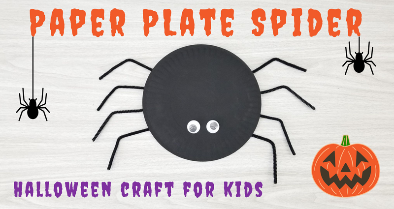 Paper Plate Spider - Halloween Craft for Kids