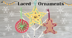 Christmas Ornament Craft for Kids with Yarn