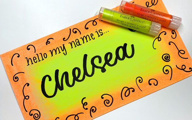 Name Tag with Gelatos