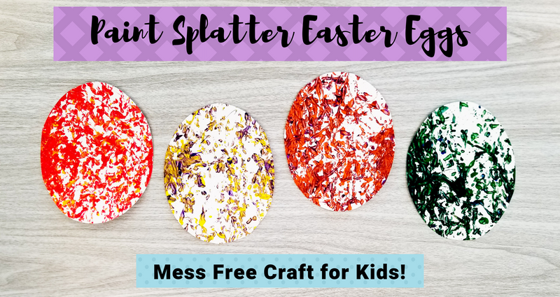 Paint Splatter Easter Eggs Craft for Kids