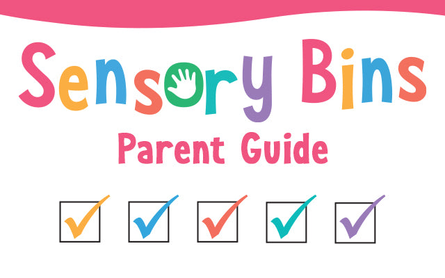 Sensory bins parent guide with checked boxes