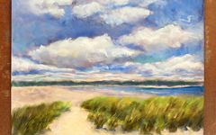 Soft Pastel Beach Landscape Tutorial